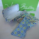 Vera Bradley Hard Eyeglass Case and Sash Capri Blue  Retired sunglass