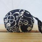 Vera Bradley Button Up coin change purse Twirly Birds Navy