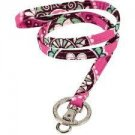 Vera Bradley Lanyard ID badge holder keyring necklace Cupcakes Pink • NWT FS
