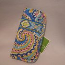 Vera Bradley soft Eyeglass Case in Capri Blue NWT Retired FS