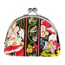 Vera Bradley Double Kiss Coin purse Poppy Fields  kisslock coin purse small clutch NWT Retired
