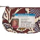 Vera Bradley Clip Zip ID case gym wallet Slate Blooms   NWT Retired