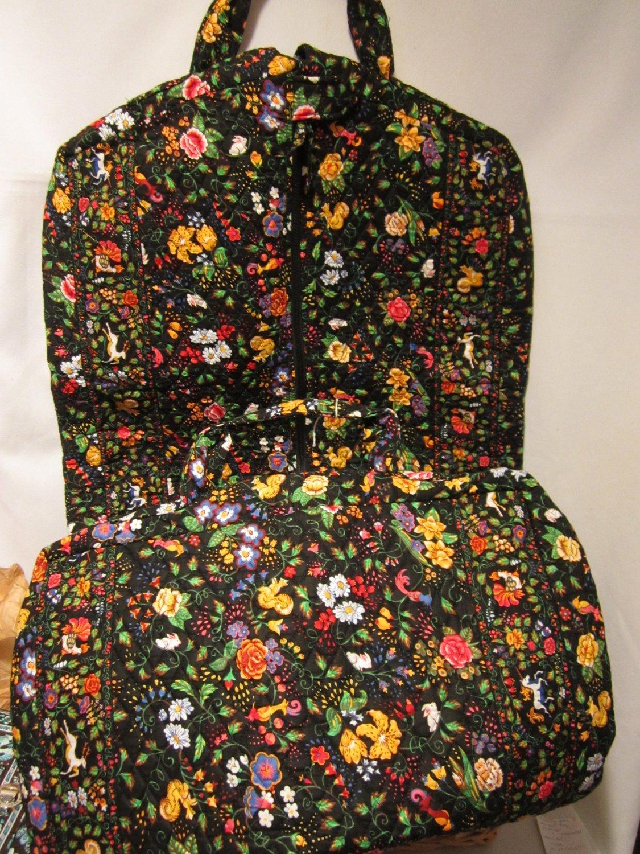 Vera Bradley Garment Dress Bag In Tavern On Green Retired Long Monogram