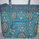 Vera Bradley Villager XL tote Totally Turq turquoise  NWT Retired   handbag laptop overnight diaper