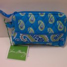 Vera Bradley Small Cosmetic bag makeup organizer Bermuda Blue Retired NWT