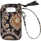 Vera Bradley All in One Wristlet  ID card coin cell phone zip around wallet Caffe Latte NWT Retired