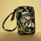 Vera Bradley All in One Wristlet cell pda tech coin ID case  Yellow Bird  Retired