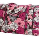 Vera Bradley Large Duffel carryon satchel Mocha Rouge  •  NWT Retired