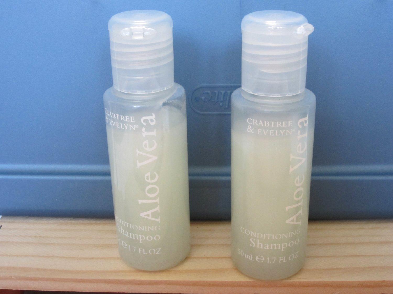 Crabtree & Evelyn Conditioning Shampoo x 2 Aloe Vera Travel 50 ml / 1.7 oz.