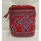 Vera Bradley Cool Keeper Frankly Scarlet • insulated tote travel cosmetic bottle bag  NWOT Retired