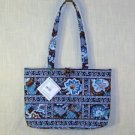 Vera Bradley small Tic Tac Tote in Java Blue   NWT Retired handbag shoulder bag purse