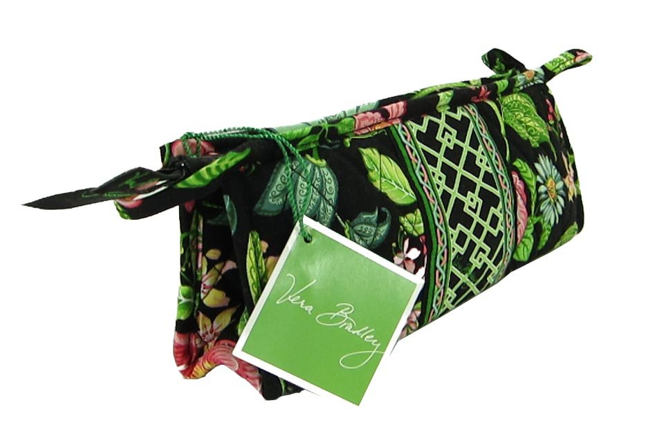 Vera Bradley Small Bow Cosmetic Makeup Bag travel case Botanica  brush and pencil � NWT Retired