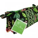 Vera Bradley Small Bow Cosmetic Makeup Bag travel case Botanica  brush and pencil • NWT Retired