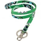 Vera Bradley Lanyard ID badge holder keyring necklace Cupcakes Green • Retired NWT FS