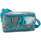 Vera Bradley Cooler Totally Turq insulated lunch tote travel cosmetic bottle case • Retired NWT