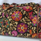 Vera Bradley Large Duffel Suzani  carryon weekend overnight Retired