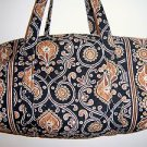 Vera Bradley large duffel Caffe Latte overnight weekend satchel  Retired Mint