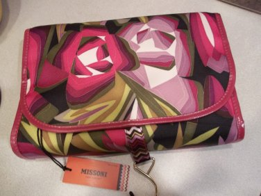 Missoni for Target  Cosmetic hanging Valet  passione floral - makeup case  toiletry bag  NWT ltd ed