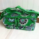 Vera Bradley mini Cooler lunch Cupcake Green • Retired travel cosmetic camera bottle bag