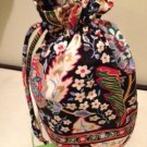 Vera Bradley Ditty Bag in Versailles  lined gym swim shoe tote  NWT Retired
