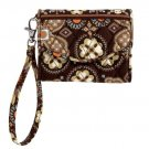 Vera Bradley Super Smart Wristlet Canyon brown smartphone ID wallet Retired NWT iPhone 4 FS