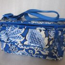 Vera Bradley Cooler Blue Lagoon insulated lunch tote • travel cosmetic bottle bag Retired VHTF
