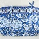 Vera Bradley Betsy Blue Lagoon shoulder bag handbag tablet e-reader tote NWT  Retired