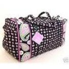 Vera Bradley Large Duffel Pink Elephants Retired NWT  gym bag duffle overnighter weekender