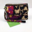Vera Bradley Super Smart Wristlet smartphone ID wallet SUZANI Retired iPhone 4 FS