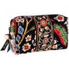 Vera Bradley Medium Cosmetic Versailles  travel makeup bag tech case NWT  Retired