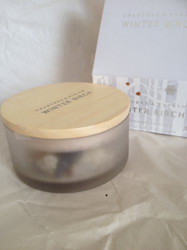 Crabtree Evelyn Crystal Potpourri Winter Birch  in reusable decorative lidded glass jar   Gift