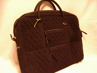 Vera Bradley Commuter Bag Microfiber Black  laptop metro case - Retired, Exc pre-owned
