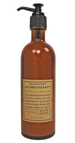 Bath Body Works Lemongrass Mandarin Original Body Lotion  disc glass bottle Exclusive