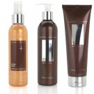 Crabtree Evelyn Cacao Noir trio Body Wash Lotion Shimmer Mist  Disc'd   cocoa chocolate VHTF set