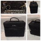 Choo Choo Train Case by Vera Bradley Black microfiber pre-owned Retired travel makeup