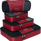 eBags 4Pc Classic plus Slim Packing Cubes Set in Rasberry travel pack aids