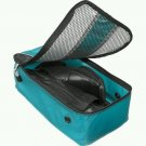 "eBags Shoe Bag travel case aquamarine turquoise  flat packing accessory FS  13.75""x7""x4.5"""