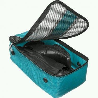 "eBags Shoe Bag travel case aquamarine turquoise  flat packing accessory FS  13.75""x7""x4.5"""