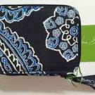 Vera Bradley Travel Pill Case Blue Bandana 7 day 8 compartment organizer box FS