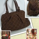 Vera Bradley Oh Baby diaper bag w changing pad overnight weekend Espresso microfiber Retired