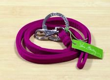 Vera Bradley Lanyard keyring ID badge holder necklace Magenta pink NWT Retired  travel  microfiber