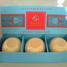 Crabtree Evelyn Bath Soap Nadira FS box/3  3.5 oz   disc • gardenia rose spice