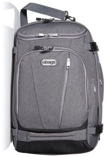 eBags TLS Mother Lode Weekender Convertible Travel Backpack heathered Graphite grey NWT
