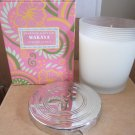 Crabtree Evelyn Wakaya poured Candle 4X 50hr burn silver lidded jar DISC tiare flower orange FS