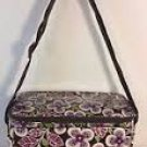 Plum Petals Cooler Vera Bradley insulated lunch tote bottle bag camera case travel cosmetic