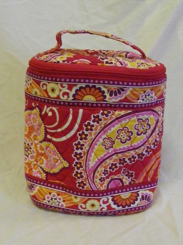 Vera Bradley Cool Keeper Rasberry Fizz FS insulated travel cosmetic snack lunch � NWT Retired