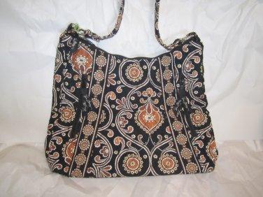 Vera Bradley Lisa B Caffe Latte hobo shoulder bag purse NWT Retired 'pack flat travel bag' FS