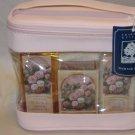 Crabtree Evelyn Damask Rose Giftcase original Bath Gel lotion Soap exfoliating glove retired.HTF