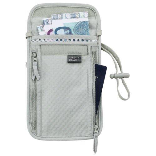 Lewis n Clark Deluxe Neck Stash FS boarding travel wallet  FS  TravelDry fabric Stash