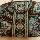 Vera Bradley Purse Cosmetic bag Java  Blue • make-up case travel cosmetic  NWT Retired HTF